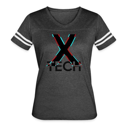 X-Tech Logo - Black - Women's Vintage Sport T-Shirt