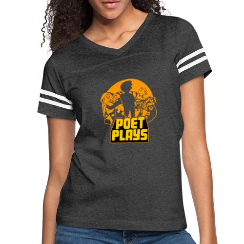 Poet Plays RETRO - Women's Vintage Sport T-Shirt