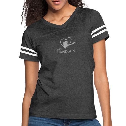 Official HerHandgun Logo - Women's Vintage Sports T-Shirt