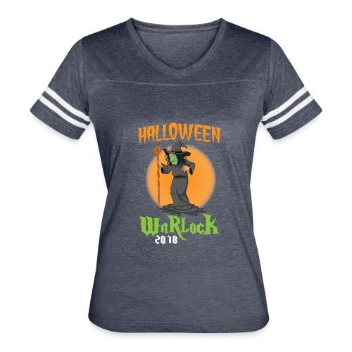 2018 Halloween Warlock Design - Women's Vintage Sport T-Shirt