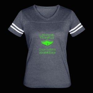 Mid-South Wrestling News Neon/Lime Green - Women's Vintage Sport T-Shirt