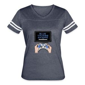 Blue Thumbs Gaming: Gamepad Logo - Women's Vintage Sport T-Shirt