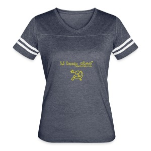 Full Li Huan Chao Logo Black+Yellow - Women's Vintage Sport T-Shirt