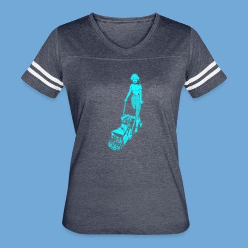 Roto-Hoe Cyan. - Women's Vintage Sport T-Shirt