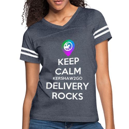 Keep Calm KC2Go Delivery Rocks - Women's Vintage Sport T-Shirt