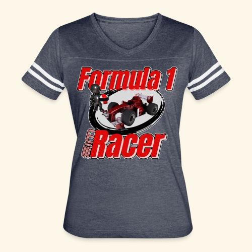 Formula 1 Sim Racer - Women's Vintage Sport T-Shirt