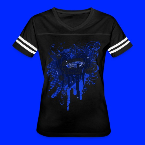 Vintage Cannonball Bingo Drip Blue - Women's Vintage Sport T-Shirt