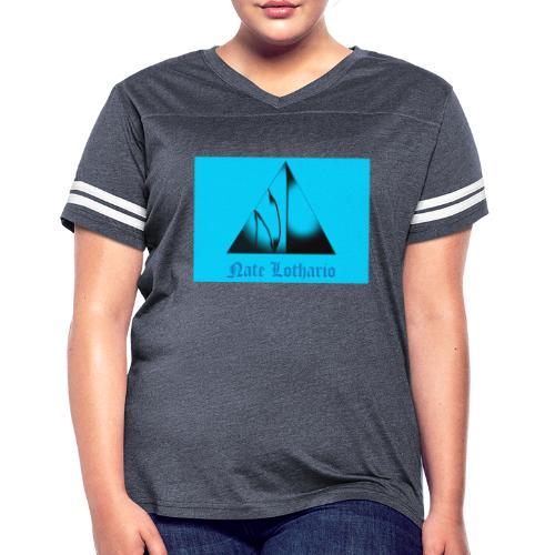 Aqua Blue Logo - Women's Vintage Sport T-Shirt
