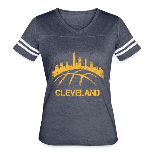 Cleveland Basketball Skyline - Women's Vintage Sport T-Shirt
