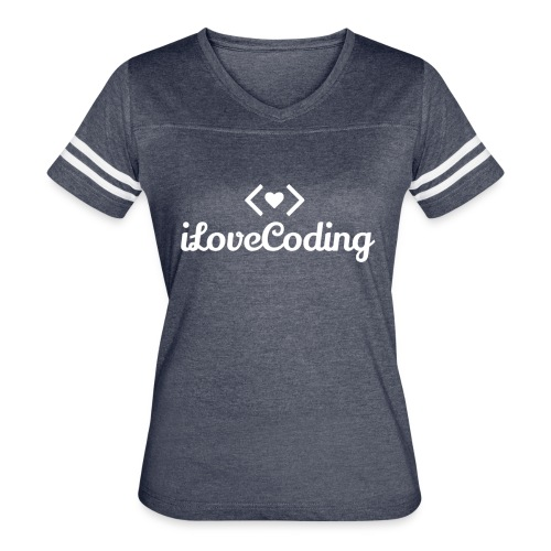I Love Coding - Women's Vintage Sport T-Shirt