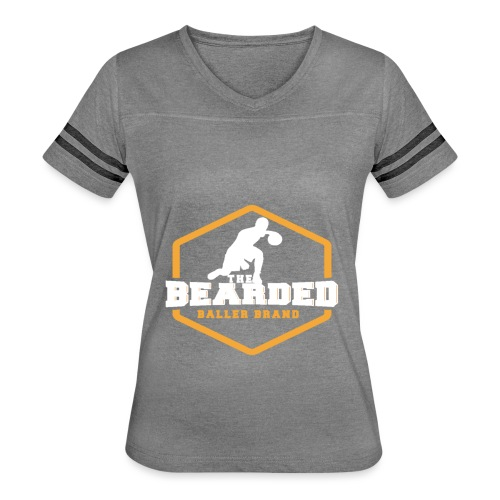 The Bearded Baller Brand White and Gold - Women's Vintage Sport T-Shirt