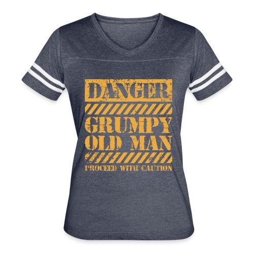 Danger Grumpy Old Man Sarcastic Saying - Women's Vintage Sport T-Shirt