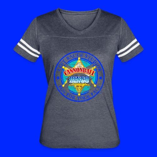 Vintage Cannonball Bingo Badge Blue - Women's Vintage Sport T-Shirt