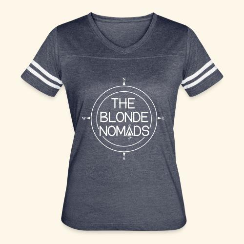 The Blonde Nomads logo WHITE - Women's Vintage Sport T-Shirt