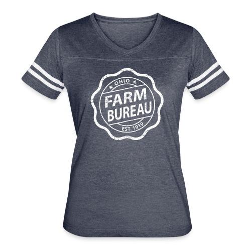 White Distressed Logo - Women's Vintage Sport T-Shirt
