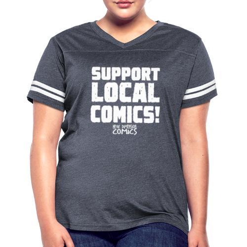 SUPPORT LOCALCOMICS! - Women's Vintage Sport T-Shirt