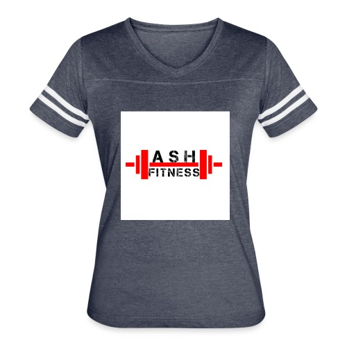 ASH FITNESS MUSCLE ACCESSORIES - Women's Vintage Sport T-Shirt