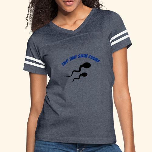 Adult Fathers day swim champ - Women's Vintage Sport T-Shirt