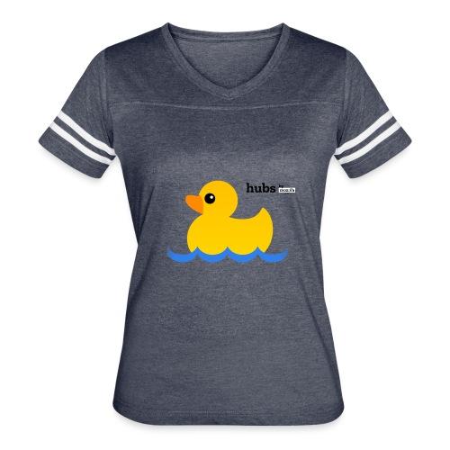 Hubs Duck - Wordmark and Water - Women's Vintage Sport T-Shirt