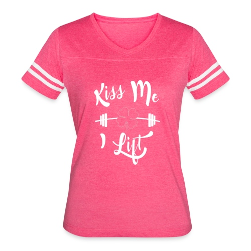 Kiss me, I lift! - Women's Vintage Sport T-Shirt