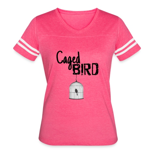 Caged Bird Abstract Design - Women's Vintage Sport T-Shirt