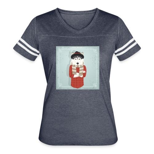 Hispter Dog - Women's Vintage Sport T-Shirt