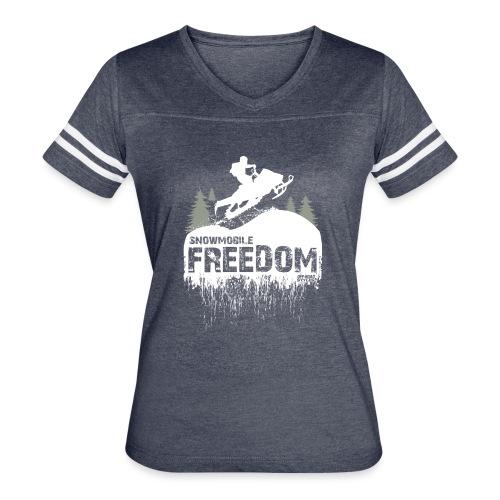 Snowmobile Freedom - Women's Vintage Sport T-Shirt