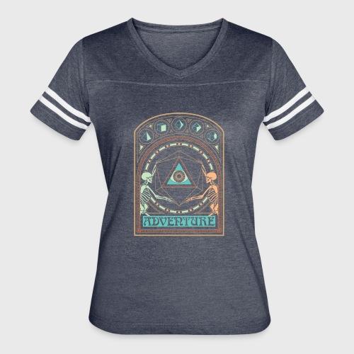 art nouveau d20 skeletons dungeons fantasy gift - Women's Vintage Sport T-Shirt