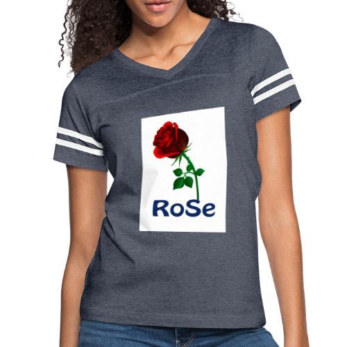 Red Rose - Women's Vintage Sport T-Shirt