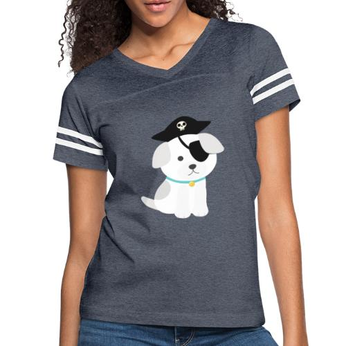 Dog with a pirate eye patch doing Vision Therapy! - Women's Vintage Sport T-Shirt