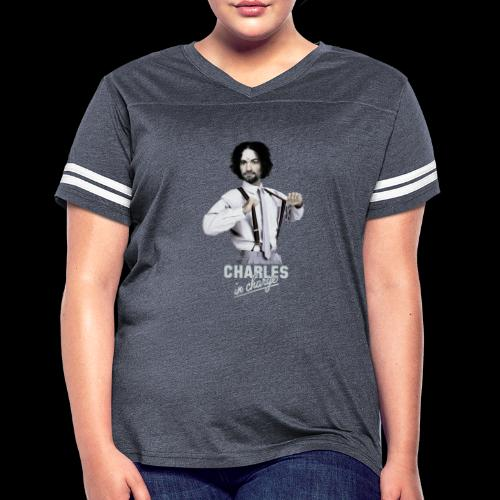 CHARLEY IN CHARGE - Women's Vintage Sports T-Shirt