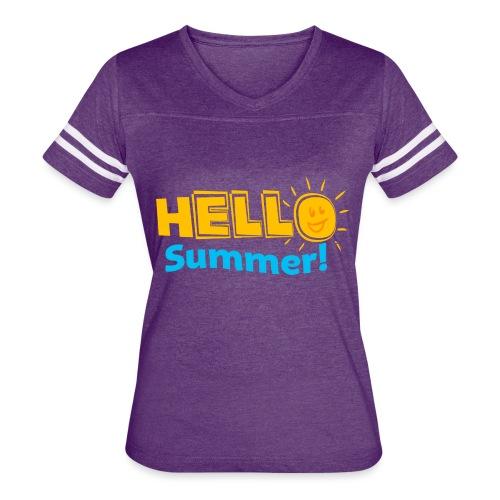 Kreative In Kinder Hello Summer! - Women's Vintage Sport T-Shirt