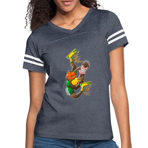 Acrobatic basketball player performing a high jump - Women's Vintage Sport T-Shirt
