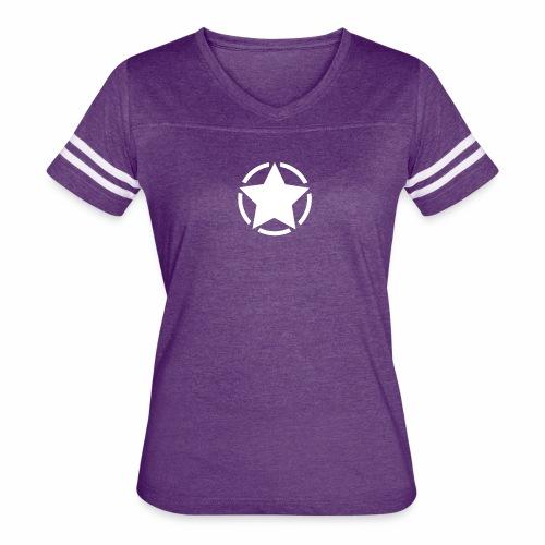 Staff starr 5pt white 14 16 - Women's Vintage Sports T-Shirt