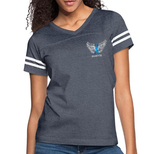Diabetes - Strength and Courage - Women's Vintage Sport T-Shirt