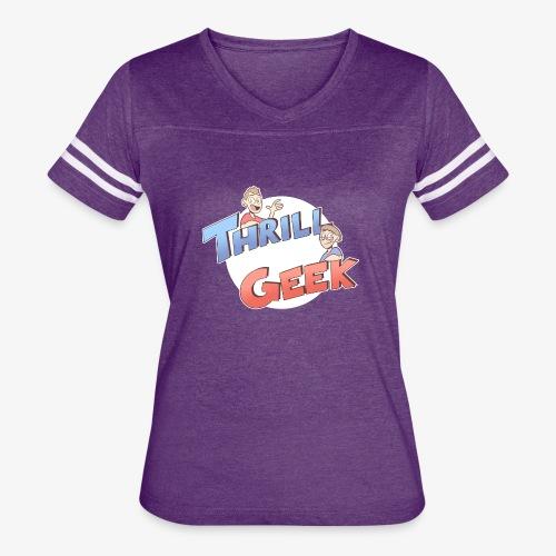 ThrillGeek Podcast Logo Shirt - Women's Vintage Sport T-Shirt