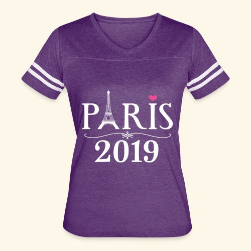 Paris France 2019 Eiffel Tower - Women's Vintage Sport T-Shirt