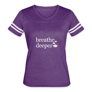 Breathe Deeper Lotus - Women's Vintage Sport T-Shirt