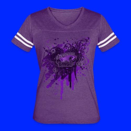Vintage Cannonball Bingo Drip Purple - Women's Vintage Sport T-Shirt