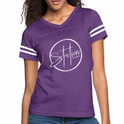 White Logo - Women's Vintage Sport T-Shirt
