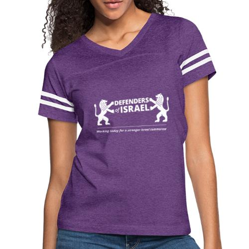 Defenders Of Israel White - Women's Vintage Sport T-Shirt