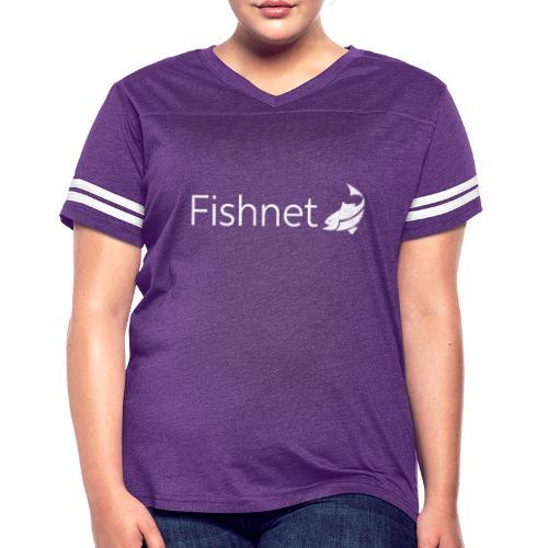 Fishnet (White) - Women's Vintage Sports T-Shirt