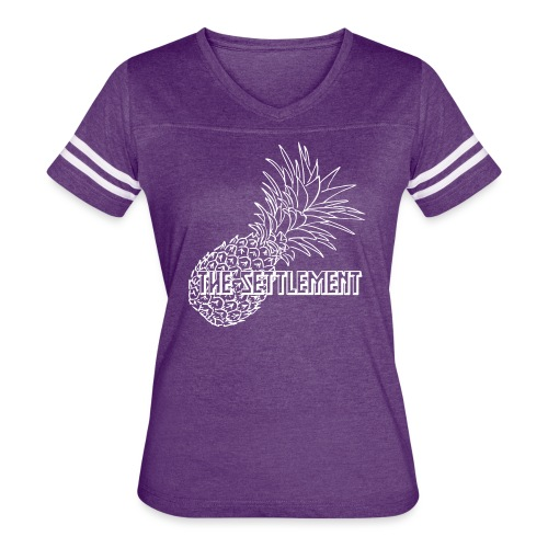 Pineapple with Band Name | The Settlement - Women's Vintage Sport T-Shirt