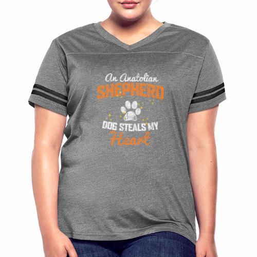 AN ANATOLIAN SHEPHERD DOG STEALS MY HEART - Women's Vintage Sport T-Shirt