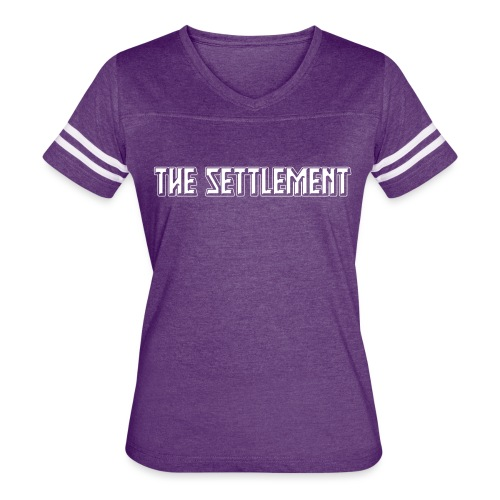Band Name (Light, One-Color) | The Settlement - Women's Vintage Sport T-Shirt