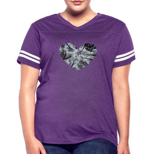 Heart Abstract Black and White Trees - Women's Vintage Sport T-Shirt