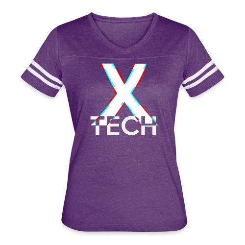 X-Tech Logo - White - Women's Vintage Sport T-Shirt