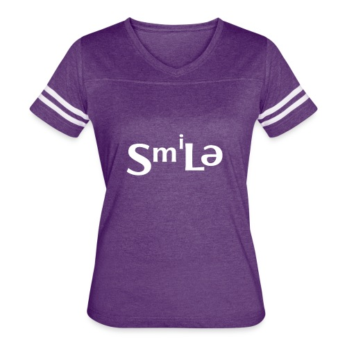 Smile Abstract Design - Women's Vintage Sport T-Shirt