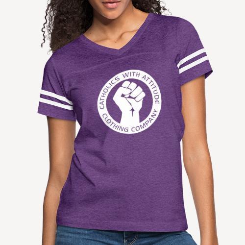 CATHOLICS WITH ATTITUDE - Women's Vintage Sport T-Shirt