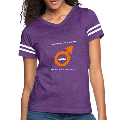 Celebrate the Men in your life - Women's Vintage Sports T-Shirt
